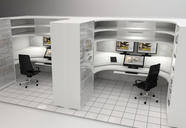 minimalist curved cubicles