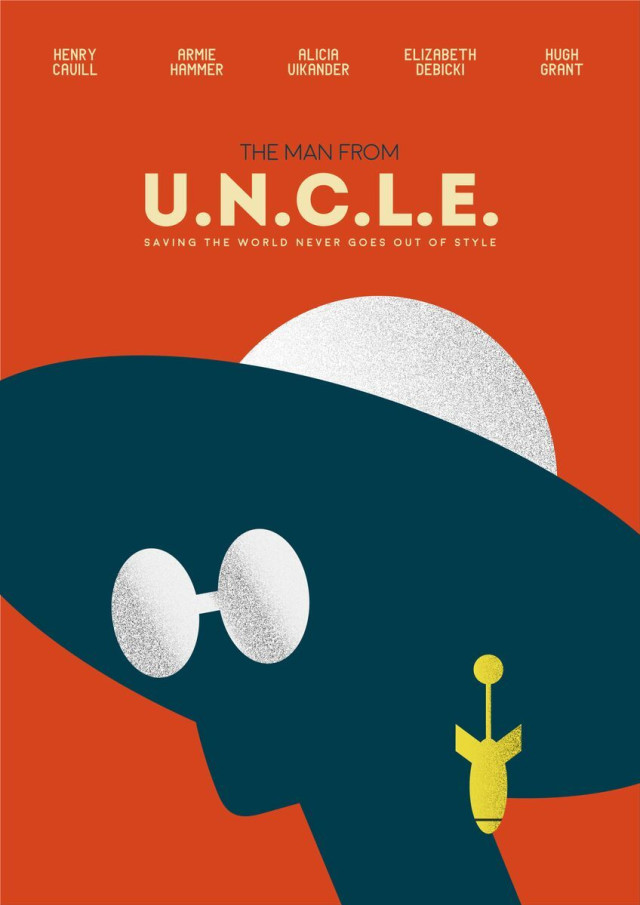 design an alternative movie poster for the man from u n c l e