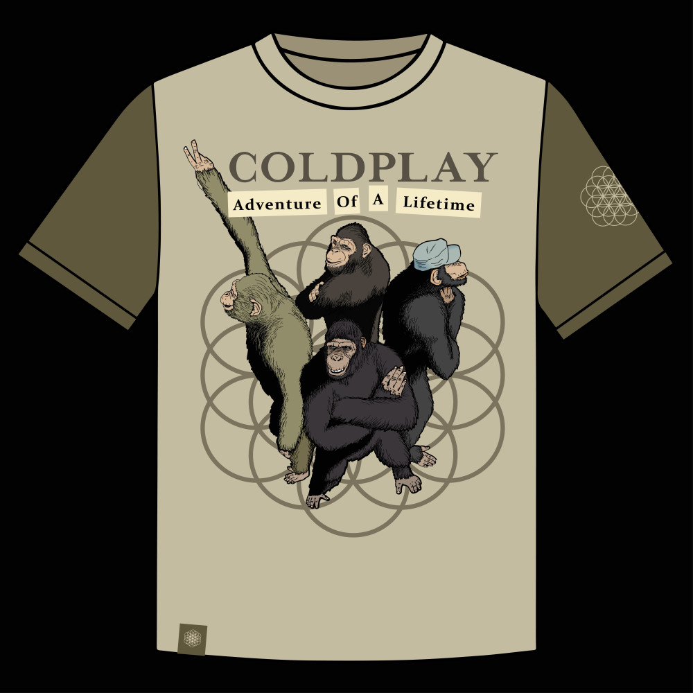 Très Design a T-shirt for Coldplay OQ21