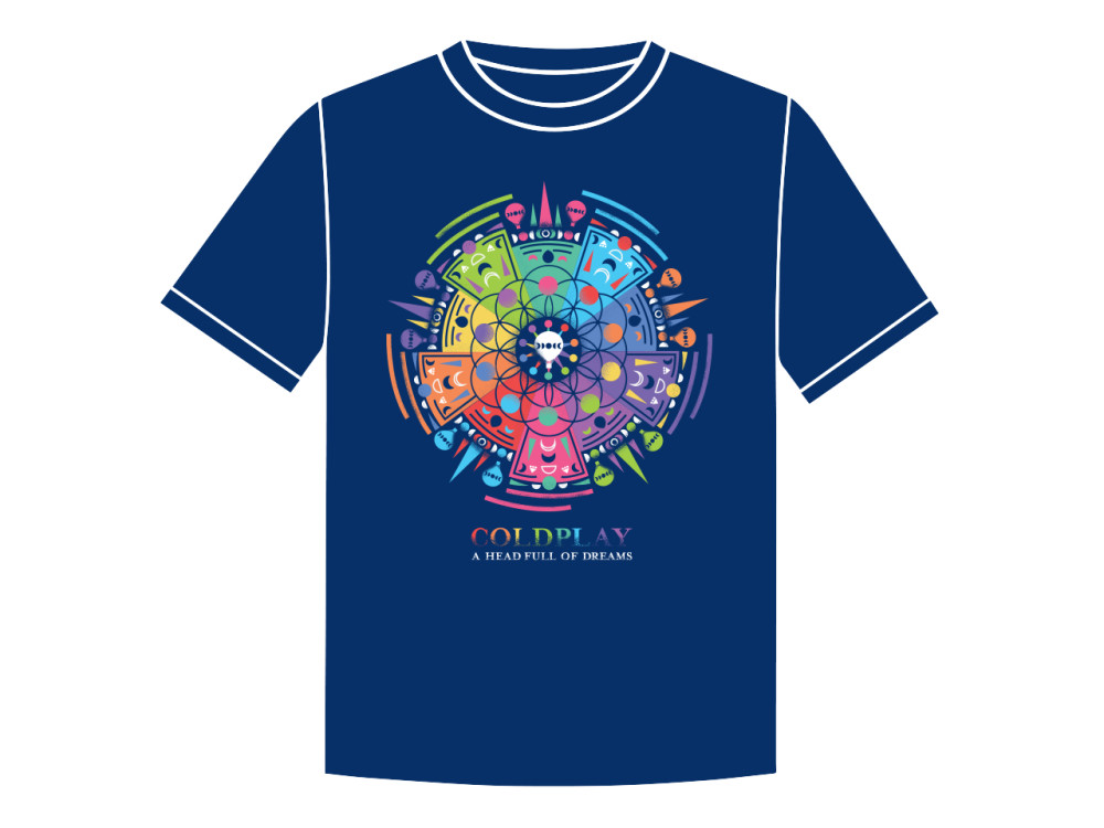 Préférence Design a T-shirt for Coldplay GV68