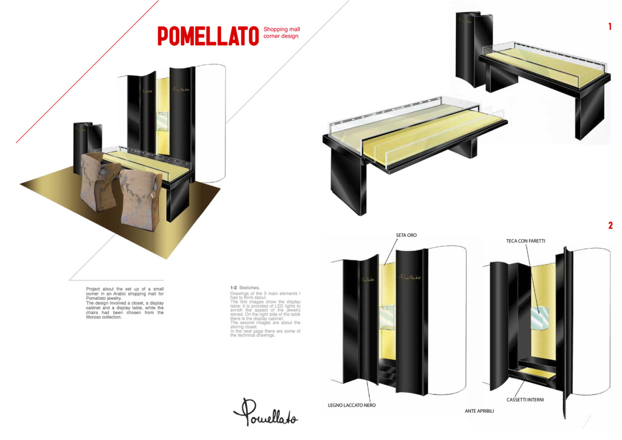 Pomellato shopping corner
