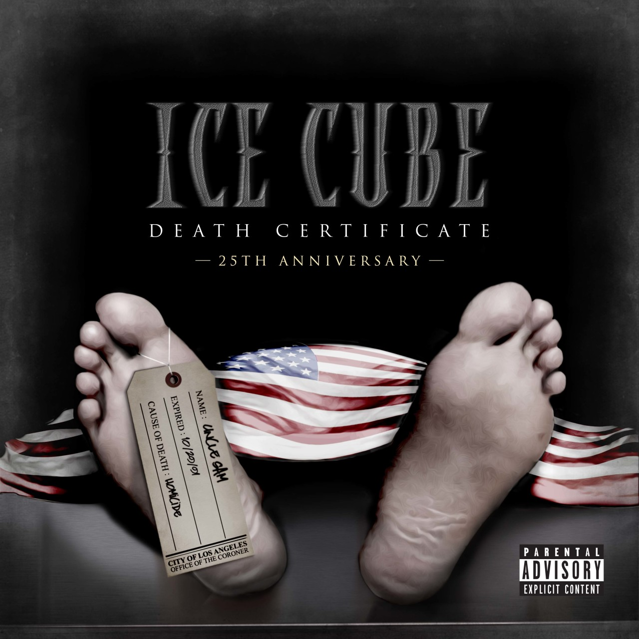 Ice Cube Cover Photo Top ice cube- 25th anniersary of death cetififcate cover contest