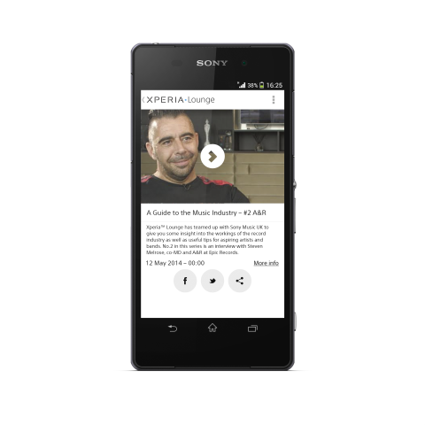 Submit your original track to Sony Xperia™