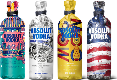 Welp Design location inspired Limited Edition bottle bags for Absolut Vodka AR-01