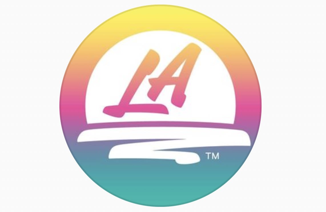 Los Angeles new logo 2021 in a circle