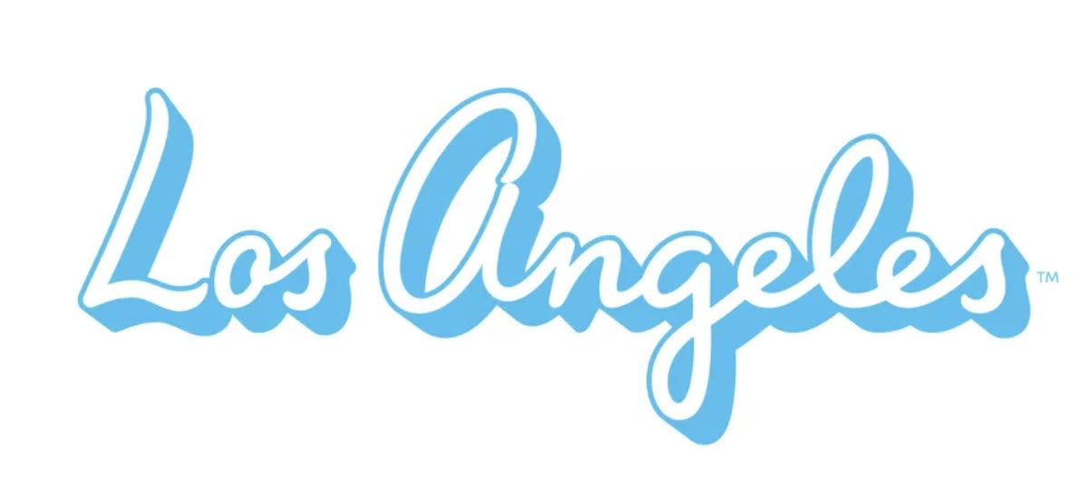 Old Los Angeles logo with blue script