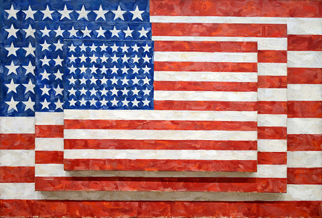 43 Three Flags - Jasper Johns 1958 Whitney Museum Of American Art New York City.jpg